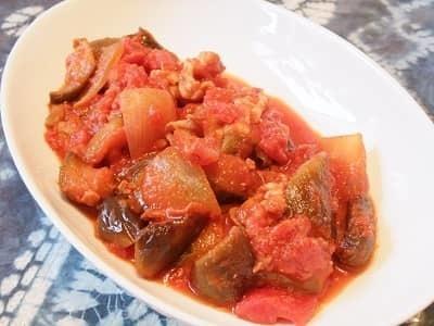 ナスと豚肉のトマト煮